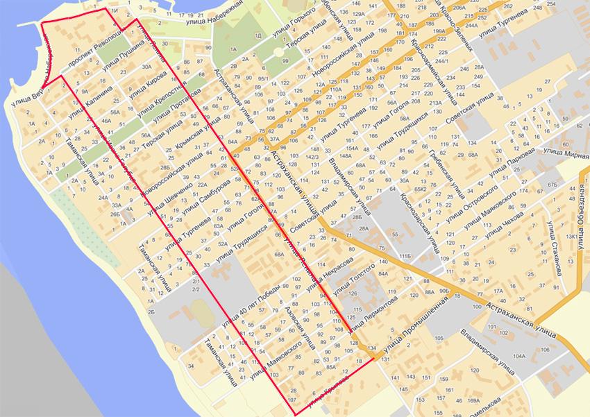 Схема маршрута 111 анапа
